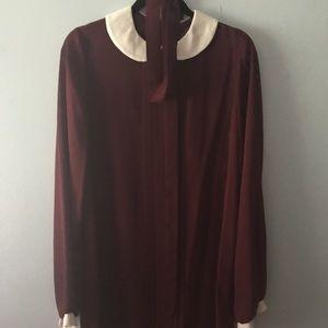 Sheer Burgundy Sheath Dress